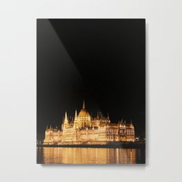 Under the Lights - Budapest Metal Print