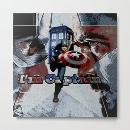 Tardis of Iron Captain Metal Print