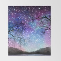 Space tree 180715 Throw Blanket