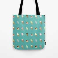 dessert Tote Bags featuring Dessert by Olya Yang