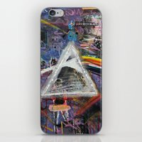 dark side of the moon iPhone & iPod Skins featuring Dark Side of The Moon  by likeitartloveit