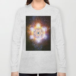 """Aad Guray Nameh""- Merkaba-  Protective energy of the Universe Long Sleeve T-shirt"
