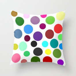 Spotty Colorful Circles Throw Pillow