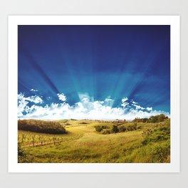 tuscany hill landscape Art Print