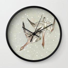 Snow Geese Wall Clock