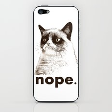 GRUMPY CAT - Nope (version 2) iPhone & iPod Skin
