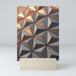 Triangle pattern 3d Mini Art Print