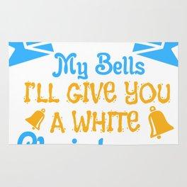 Bells Dirty Christmas Gift Shirt Rug