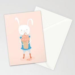 Fiona and Her Carrot Cake Ice Cream Cone Stationery Cards