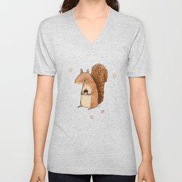 Sarah the Squirrel Unisex V-Neck