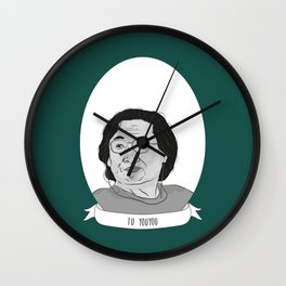 Tu Youyou Illustrated Portrait Wall Clock