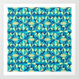 geometric shapes inspired by jewels Art Print