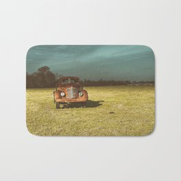 Lost In Time Truck Travel Bath Mat