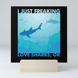 Shark Animal Ocean Marine Biologist Shark Mini Art Print