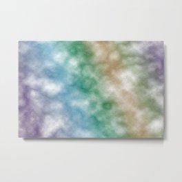 Rainbow marble texture 2 Metal Print
