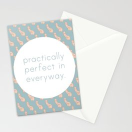 Practically Perfect - Penis in Blue Stationery Cards