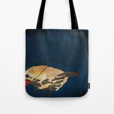 Finch on Blue Tote Bag