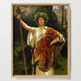 """John Collier """"The Priestess of Bacchus"""" Serving Tray"""