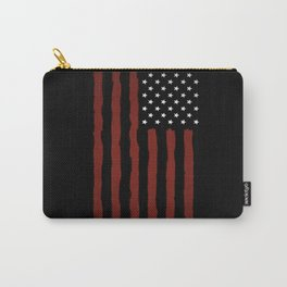 Dark USA flag Carry-All Pouch