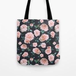 Light Pink Roses Flower pattern Tote Bag