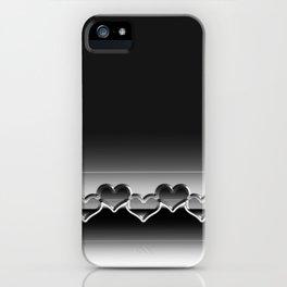 Heart lenses pattern iPhone Case