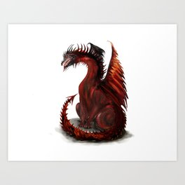 Challenger Lone Dragon Abstract Art Print