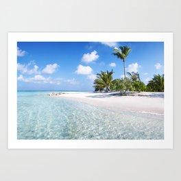 Maldives beach Art Print