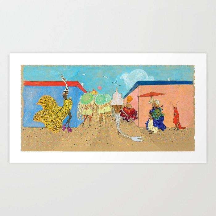 """Mermaids"" whispers Julián Art Print"