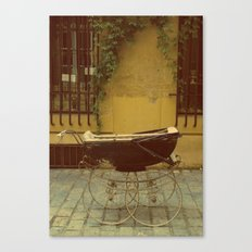 Vintage Baby Carriage in Aix in Provence, France Canvas Print