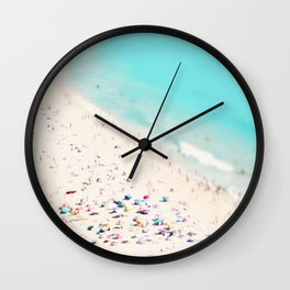 beach love III square Wall Clock