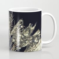 gold glitter Mugs featuring glitter and gold by Bonnie Jakobsen-Martin