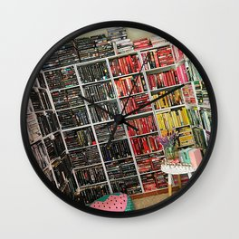 Book Rainbow Haven Wall Clock