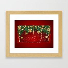 Christmas shopwindow Framed Art Print