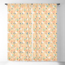 Summer Llamas Blackout Curtain