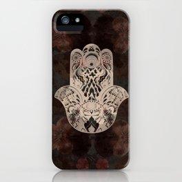 Blush Hamsa iPhone Case