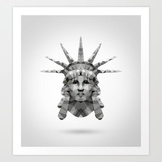 Polygon Heroes - Liberty Art Print