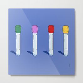 Know Your Test Tubes Metal Print