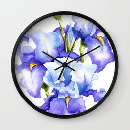 Spring Irises Wall Clock
