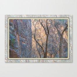 WARM WINTER WALLS OF ZION CANYON Canvas Print