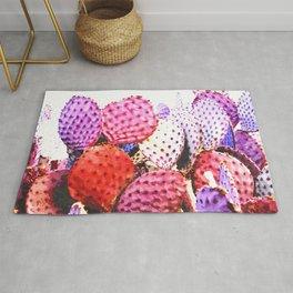 Purple cactus illustration Rug