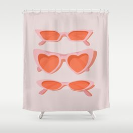 rose tinted Shower Curtain