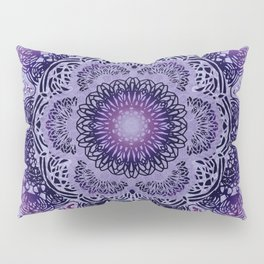 Lilac Boho Brocade Mandala Pillow Sham