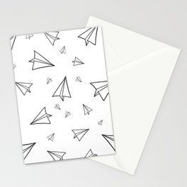 Paper Airplane Pattern | Line Drawing Stationery Cards