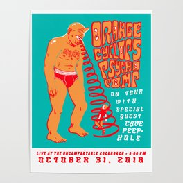 ORANGE CYCLOPS PSYCHOPOMP Tour Poster Poster