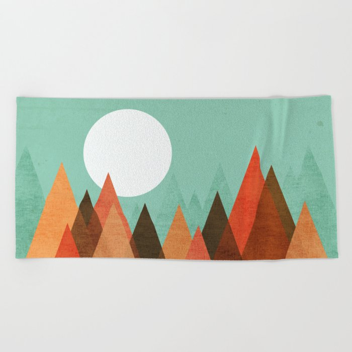 From the edge of the mountains Beach Towel