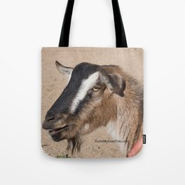 Brown and white Goat on a tote, reusable shopping bag Tote Bag