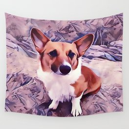 Pembroke Welsh Corgi Wall Tapestry