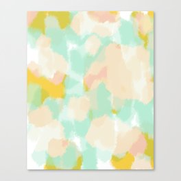 Sammy - Soft green Abstract Digital Painting Canvas Print