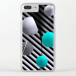 go turquoise -7- Clear iPhone Case