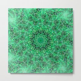 Green Kaleidoscope 2 Metal Print